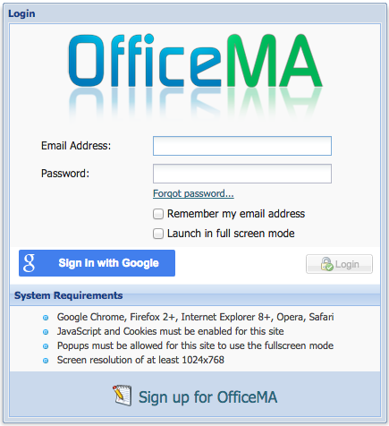 OfficeMA Login